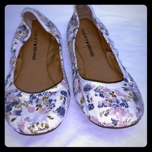 Lucky Brand floral print Emmie flats 8.5 new